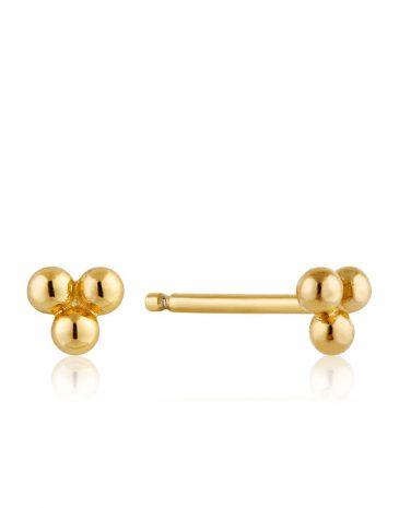 Modern Triple Ball Stud Earrings