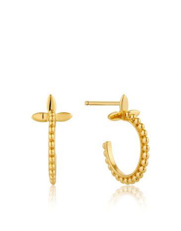Modern Beaded Hoop Earrings