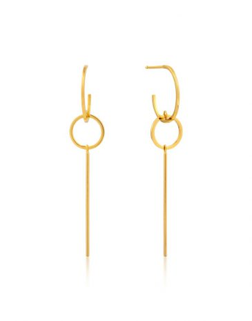 Modern Solid Drop Earrings