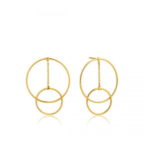 Modern Front Hoop Earrings