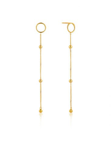 Modern Beaded Drop Earrings