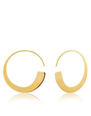 Geometry Slim Hoop Earrings