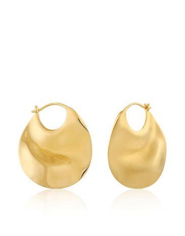 Ripple Thick Hoop Earrings