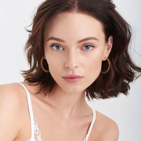 Spike Hoop Earrings