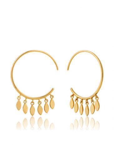 Multi-Drop Hoop Earrings