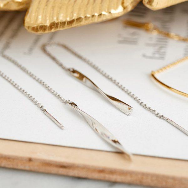 Helix Threader Earrings