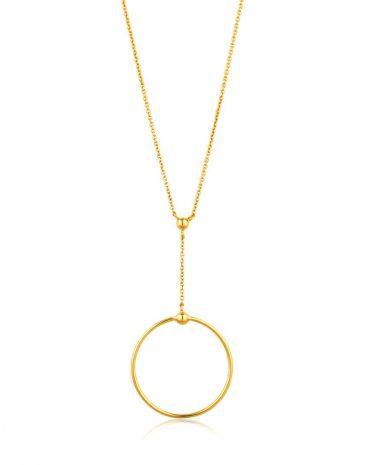 Orbit Drop Circle Necklace