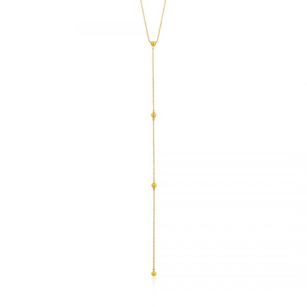 Modern Beaded Y Necklace
