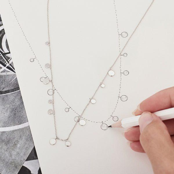 Geometry Mixed Discs Necklace