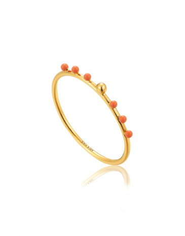 Dotted small ball ring
