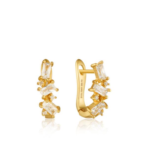 Cluster Huggie Earrings