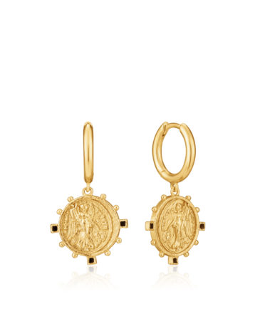 Victory Goddess Hoop Earrings