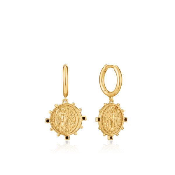 Victory Goddess Hoop Earrings