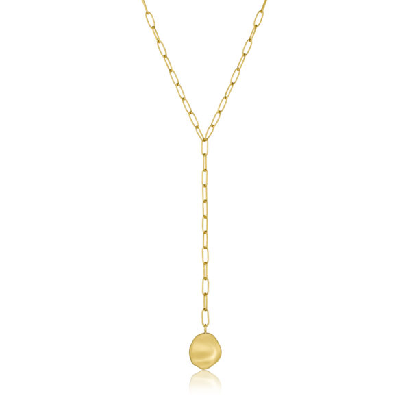 Crush Disc Y Necklace