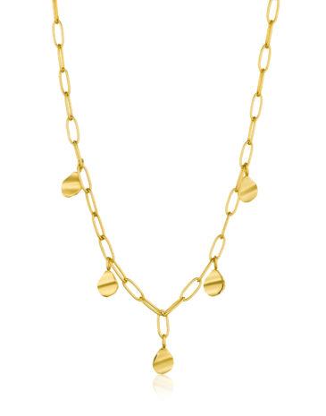 Crush Drop Disc Necklace