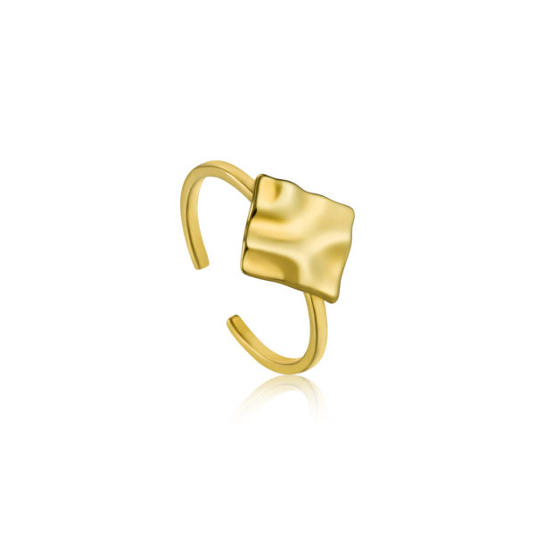 Crush Square Adjustable Ring