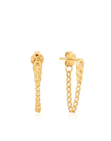Curb Chain Stud Earrings