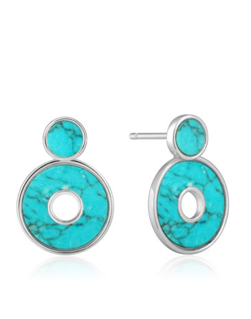 Turquoise Disc Ear Jackets