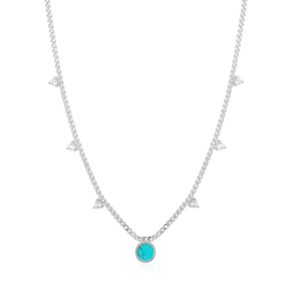 Turquoise Drop Disc