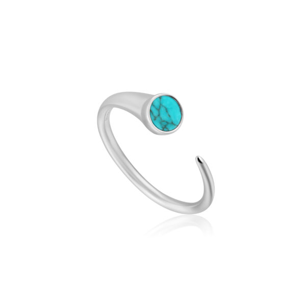 Turquoise Claw Adjustable Ring