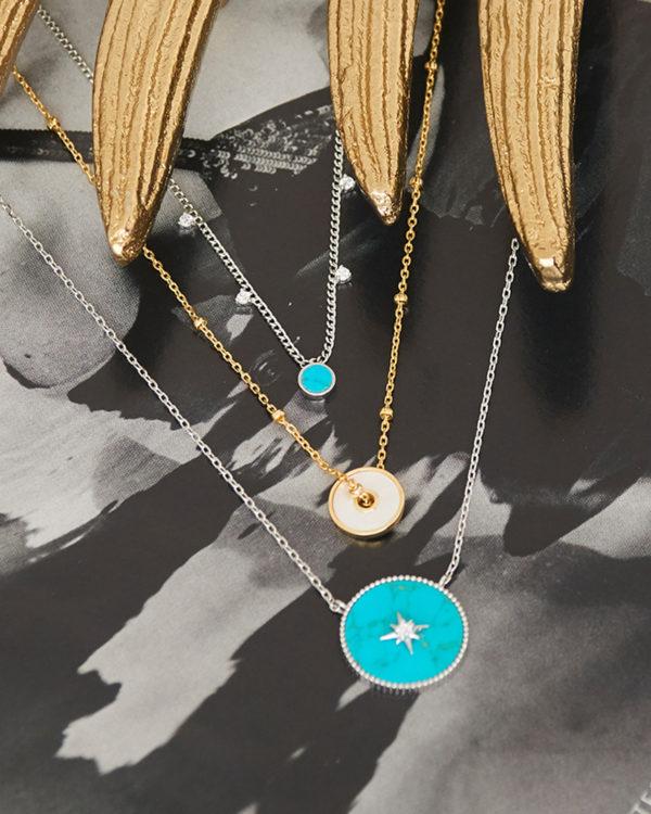 Turquoise Drop Disc Bracelet