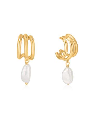 Triple mini hoop earrings
