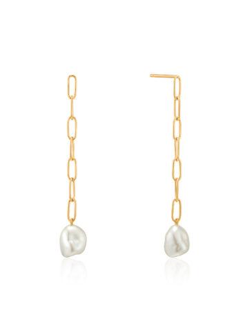 Pearl Chunky Drop Earrings