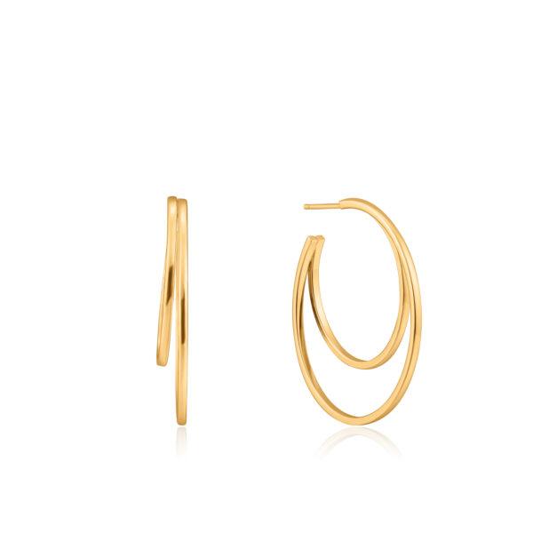 cresent hoop earring