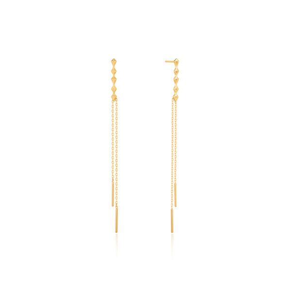 spike dpuble drop earrings