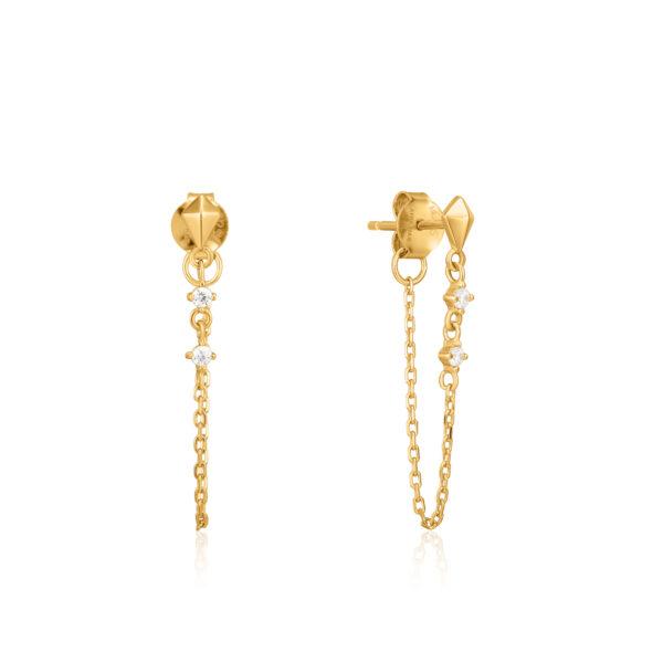 Spike chain stud earrings