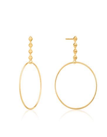 Spike Hoop Earrings goud