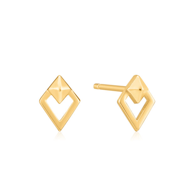 Spike Diamond Stud Goud