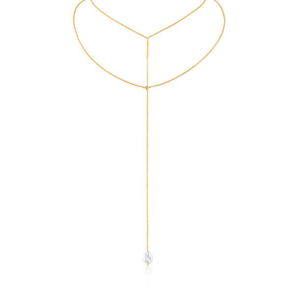 Pearl Y Necklace