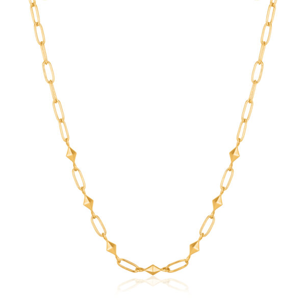 Heavy Spike Necklace Goud
