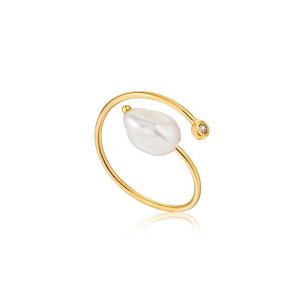 pearl Twist Ring