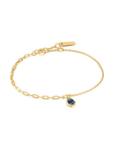 Tidal Abalone Mixed Link Bracelet