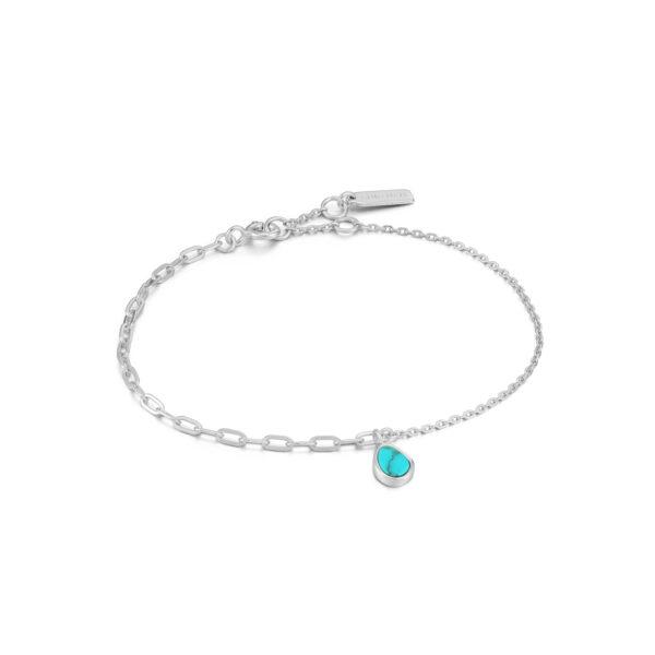 Tidal Turquoise Mixed Link Bracelet