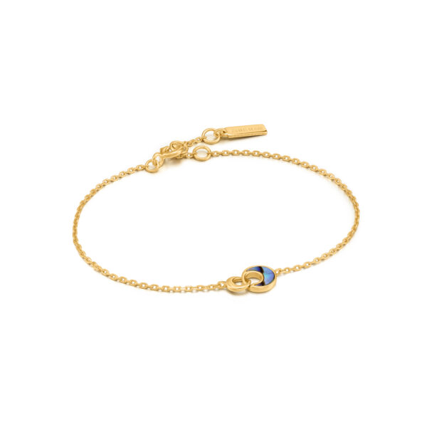 Tidal Abalone Crescent Link Bracelet