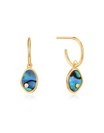 Tidal Abalone Mini Hoop Earrings