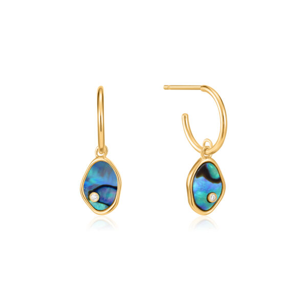 Tidal Abalone Mini Hoop Earrings