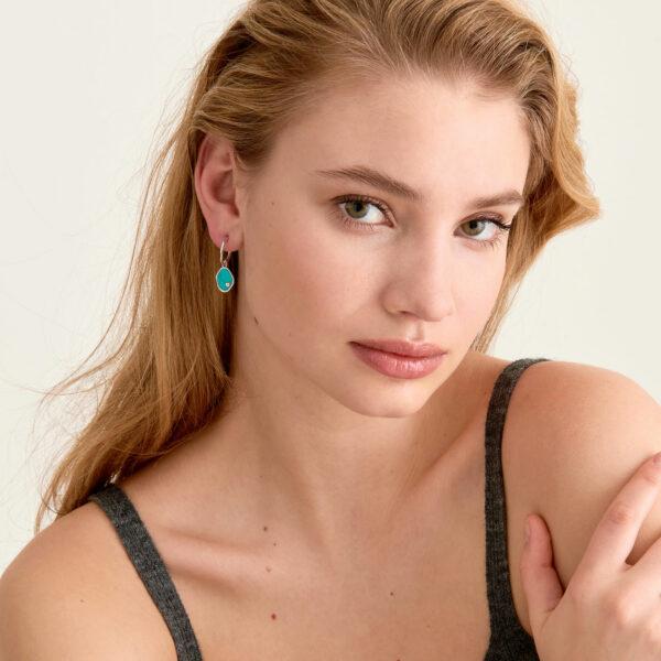 Tidal Turquoise Mini Hoop Earrings
