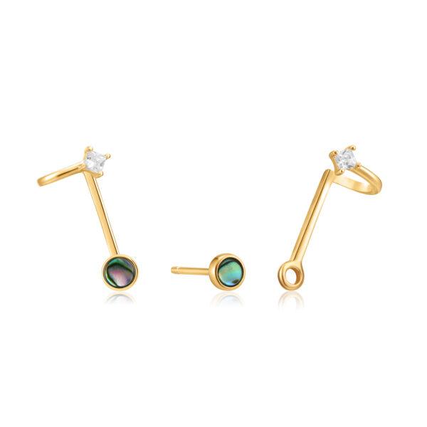 Tidal Abalone Double Stud Earrings