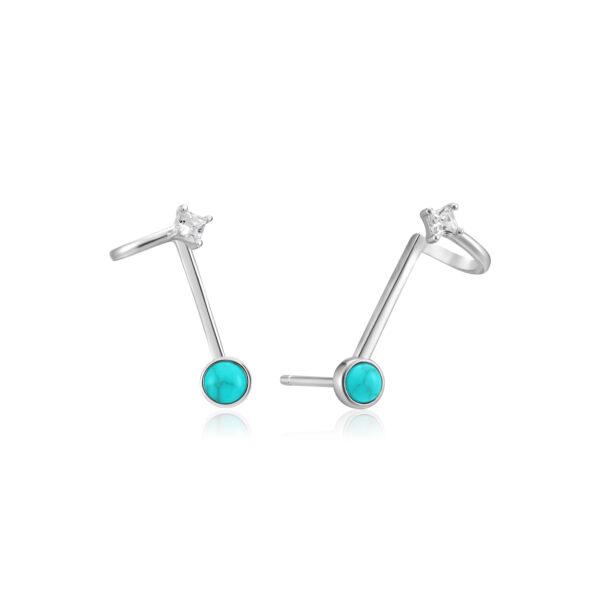 Tidal Turquoise Double Stud Earrings