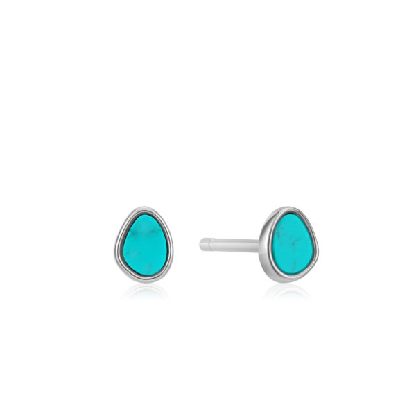 Tidal Turquoise Stud Earrings