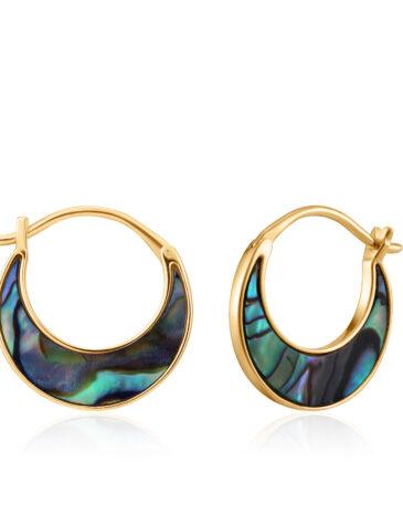 Tidal Abalone Crescent Earrings