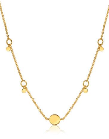 Geometry Drop Discs Necklace