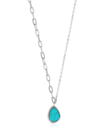 Tidal Turquoise Mixed Link Necklace