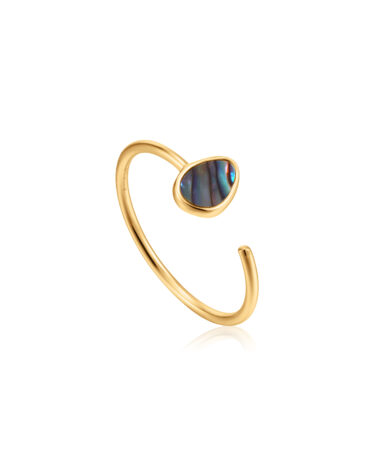Tidal Abalone Adjustable Ring