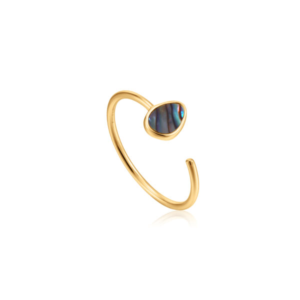 Tidal Abalone Adjustable Ring