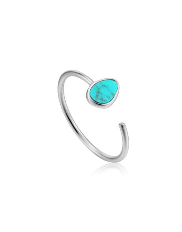 Tidal Turquoise Adjustable Ring